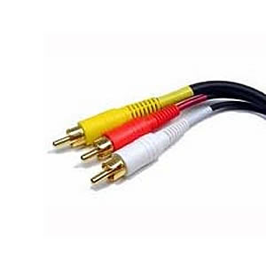 Cable, RCA Audio/Video, 3 Connectors